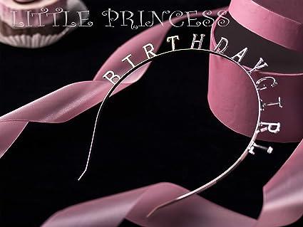 0.6 Elehere Birthday Girl Tiara Headband Headpiece Girls Party Hair Accessories