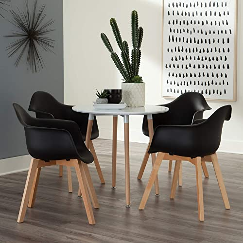 OFM 161 Collection Mid Century Modern 2 Pack Plastic Molded Accent Chair