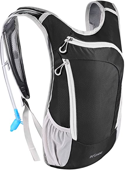 Hydration Backpack with 2L BPA Free Water Bladder Lightweight Pack for Running Hiking Riding Camping Cycling Climbing