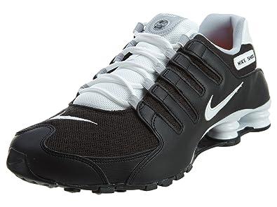 NIKE Men's Shox NZ SE Black/White White Wolf Grey Running Shoe 10.5 Men US
