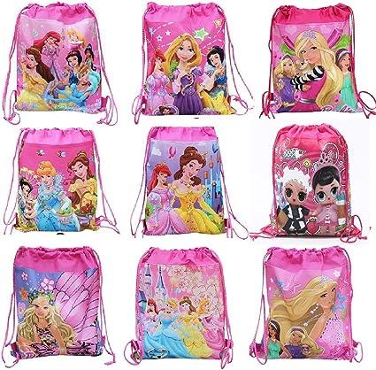 ANG Cartoon Printed Dori Bag for Kids Favor / Haversack Bag | Birthday Party Return Gift for Boys/Girls(Color-Miulti) (Girls, 12)