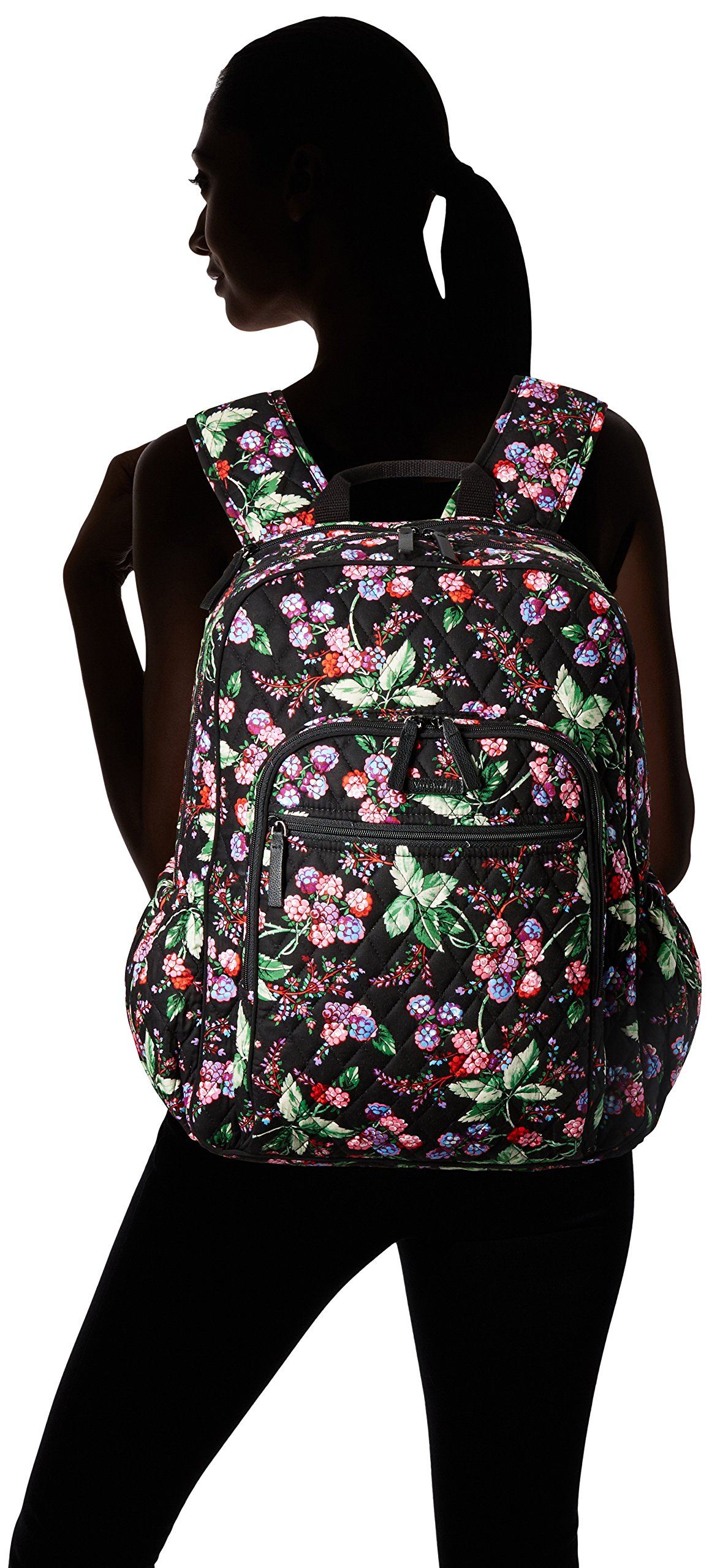 Vera Bradley Women's Campus Tech Backpack-Signature, Winter Berry by Vera Bradley (Image #4)