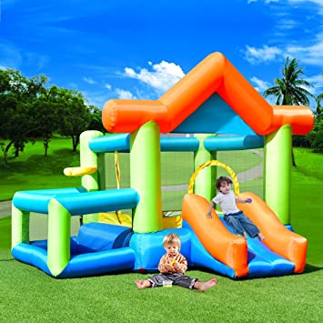 927390d30 Costway Inflatable Moonwalk Bouncy Castle Kids House Bouncer Jumper ...