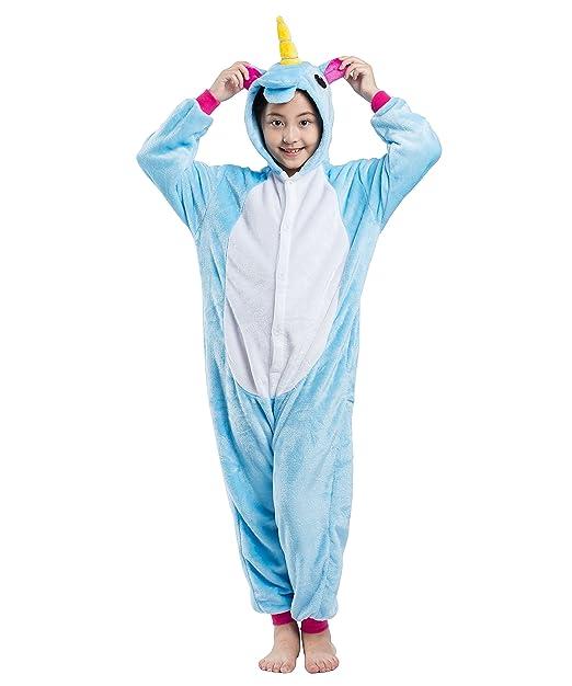 AKAAYUKO Niños Animal Disfraz - Franela Onesies Pijama