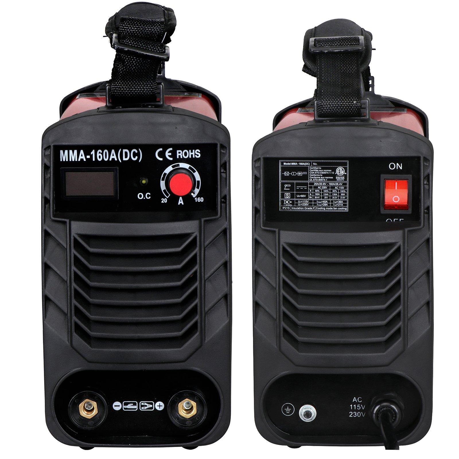 ZENY Arc Welding Machine DC Inverter Handheld Welder MMA 20-160A IGBT 110V/230V Dual Voltage IGBT Stick by ZENY (Image #4)