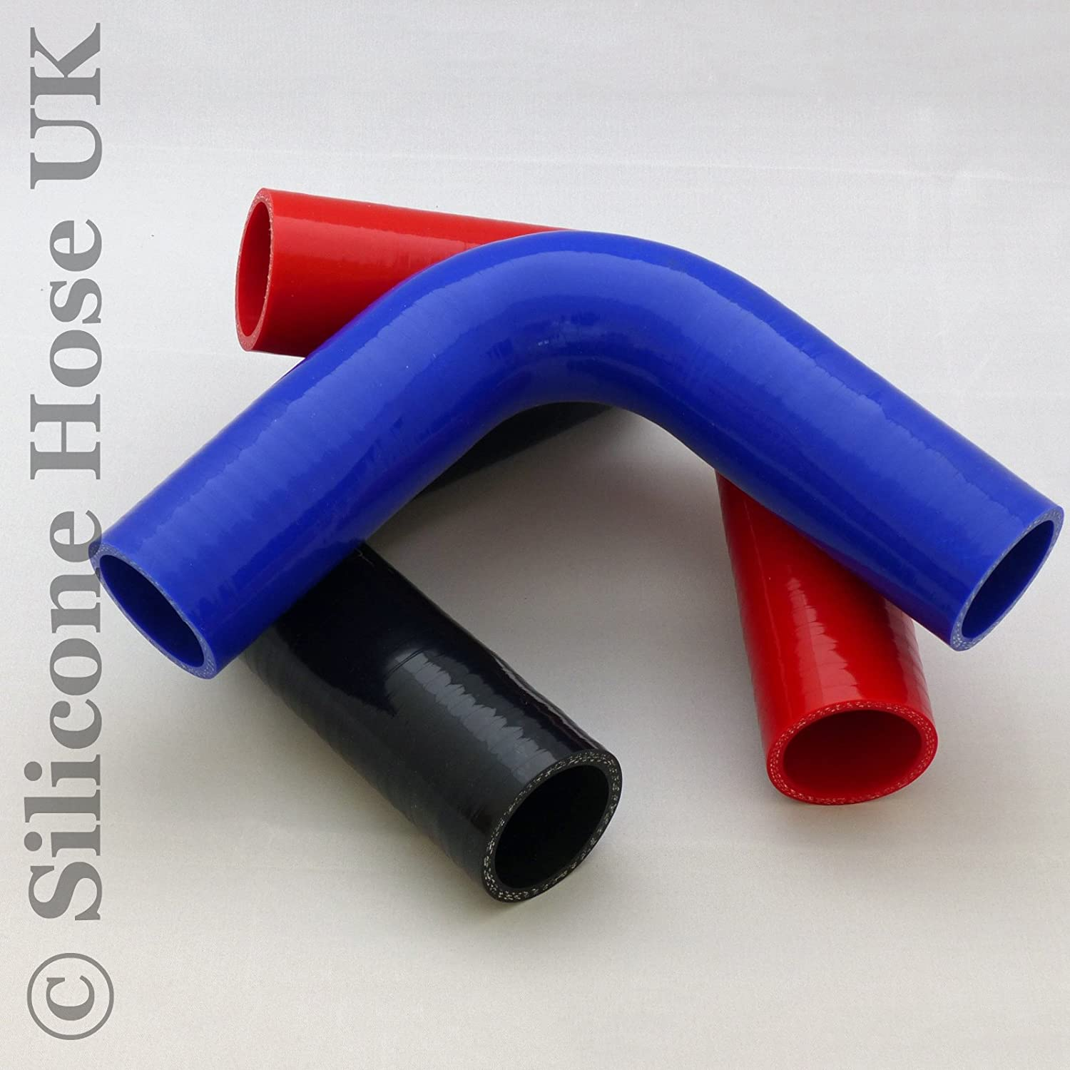 Blue 45mm 90 degree Silicone Turbo and Coolant Reinforced Hose Elbow ID