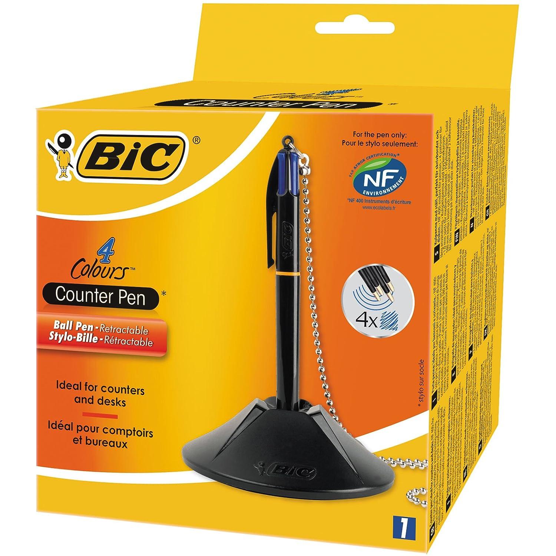 BIC 4 Colours Counter Pen Ballpoint Pen Blue 1 Box 918515