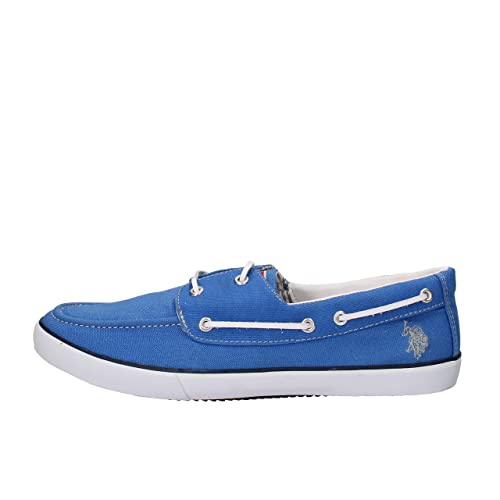 U.S. POLO ASSN. Mocasines Hombre Textil Azul 45 EU: Amazon.es ...