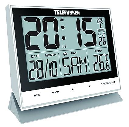 Telefunken FUX de 500 (W) XXL de LCD de radio despertador/Reloj de