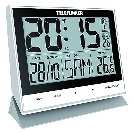 Telefunken FUX de 500 (W) XXL de LCD de radio despertador/Reloj de pared digital, ...