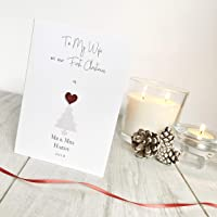 Our First Married Christmas As Mr & Mrs - Personalised Christmas Card