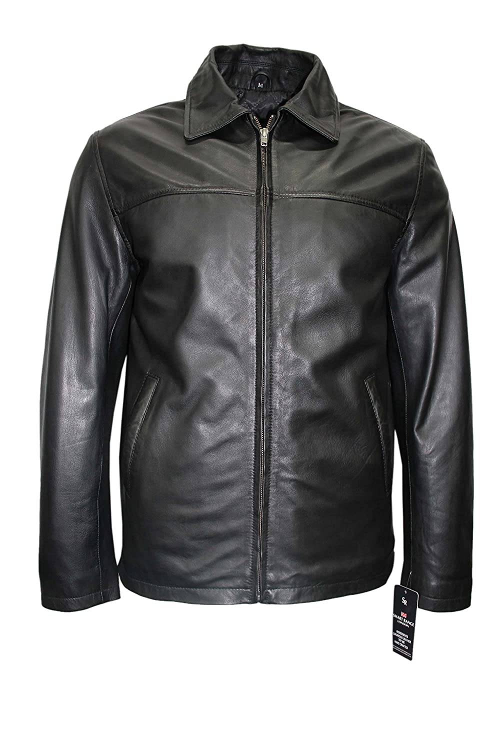 New Men's 1152 Classic Style Black Casual Soft Designer Lambskin Leather Jacket