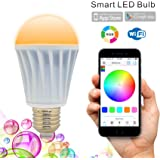 Flux WiFi Smart LED Light Bulb - Works with Alexa - Smartphone Controlled Multicolored Color Changing Lights - Dimmable Night Light