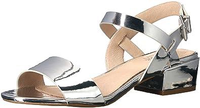 Shellys London Women's Dacey Dress Sandal, Silver, ...