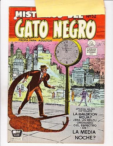 Amazon.com: Misterios Del Gato Negro No 52 1957 Spanish Black Cat Clock Cover: Entertainment Collectibles