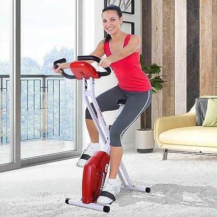 HOMCOM Bicicleta de Fitness Plegable Bicicleta Estática para ...