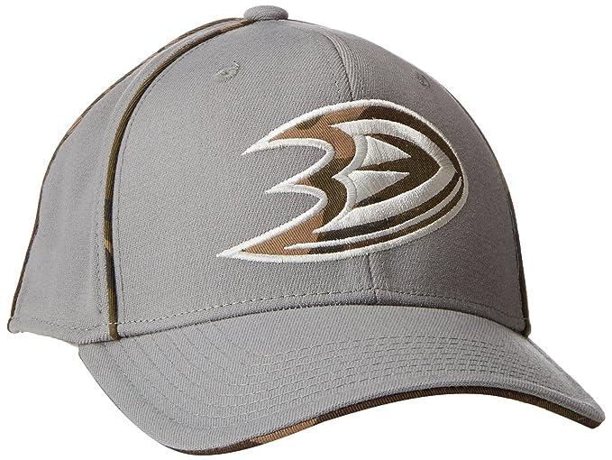 new product 3a657 88e9c NHL Anaheim Ducks Men s SP17 Gray Camo Structured Flex Cap, Gray,  Small Medium