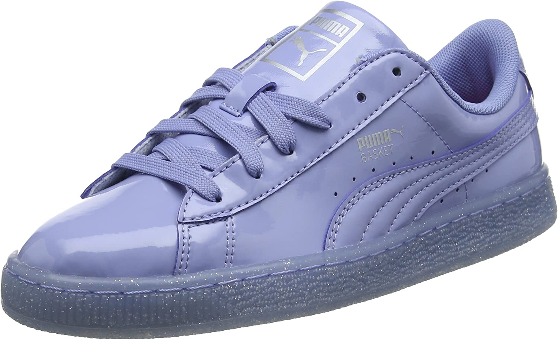 PUMA Basket Patent Iced Glitter Jr, Sneakers Basses Mixte Enfant