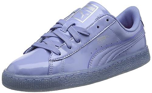 Puma Basket Patent Iced Glitter Jr, Zapatillas para Niñas: Amazon.es: Zapatos y complementos