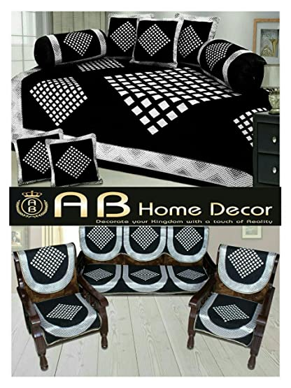 Best of sofa cover and diwan set combo sectional sofas for Best home decor amazon