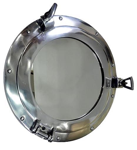 quot nautical brass com port dp hole boat decor amazon porthole mirror