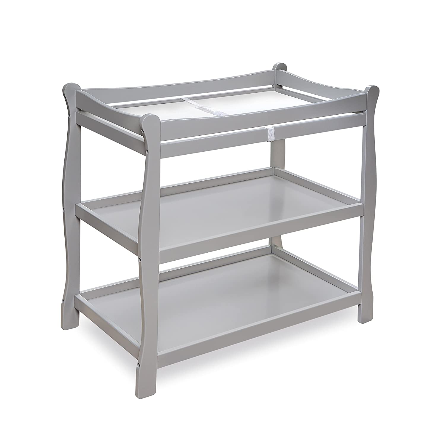 Badger Basket White Sleigh Style Baby Changing Table 02211