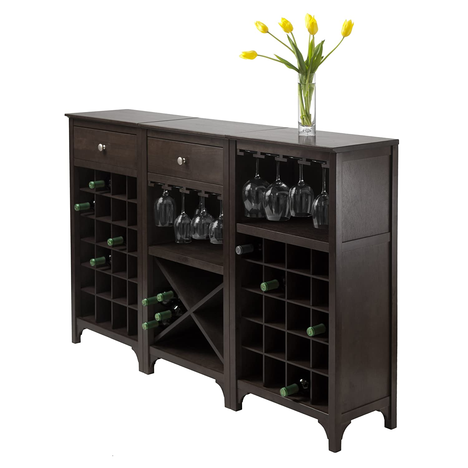 espresso cupboard doors kitchen dining wine com furniture kings server rack amazon buffet brand with glass console dp table