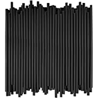 Disposable Drinking Straws - 7 3/4 Inches Long - Standard Size (Black, 500)
