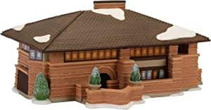 Department 56 Christmas in The City Frank Lloyd Wright Heurtley House Village Lit Building, Multicolor