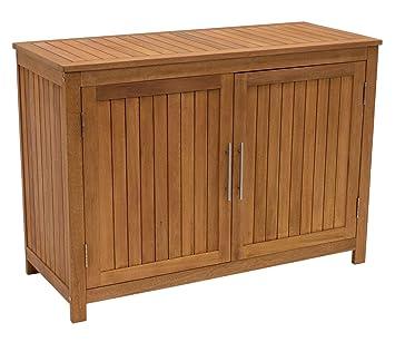 Degamo Holz Gartenschrank Cabinet 120x50cm Mit Zwei Ebenen