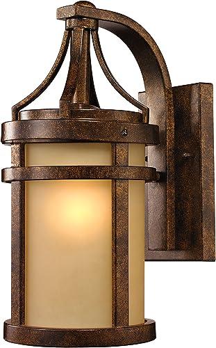 Elk Lighting 45096 1 Winona Collection 1 Light Outdoor Sconce, Hazelnut Bronze