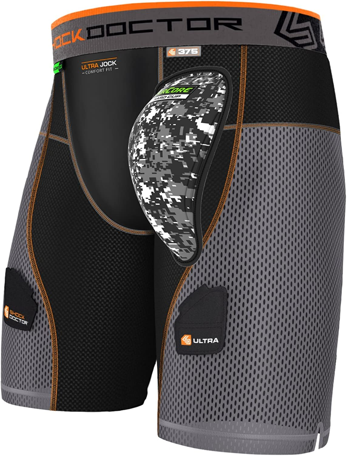 Shock Doctor Mens Aircore Hard Cup Ultra Powerstride Hockey Shorts