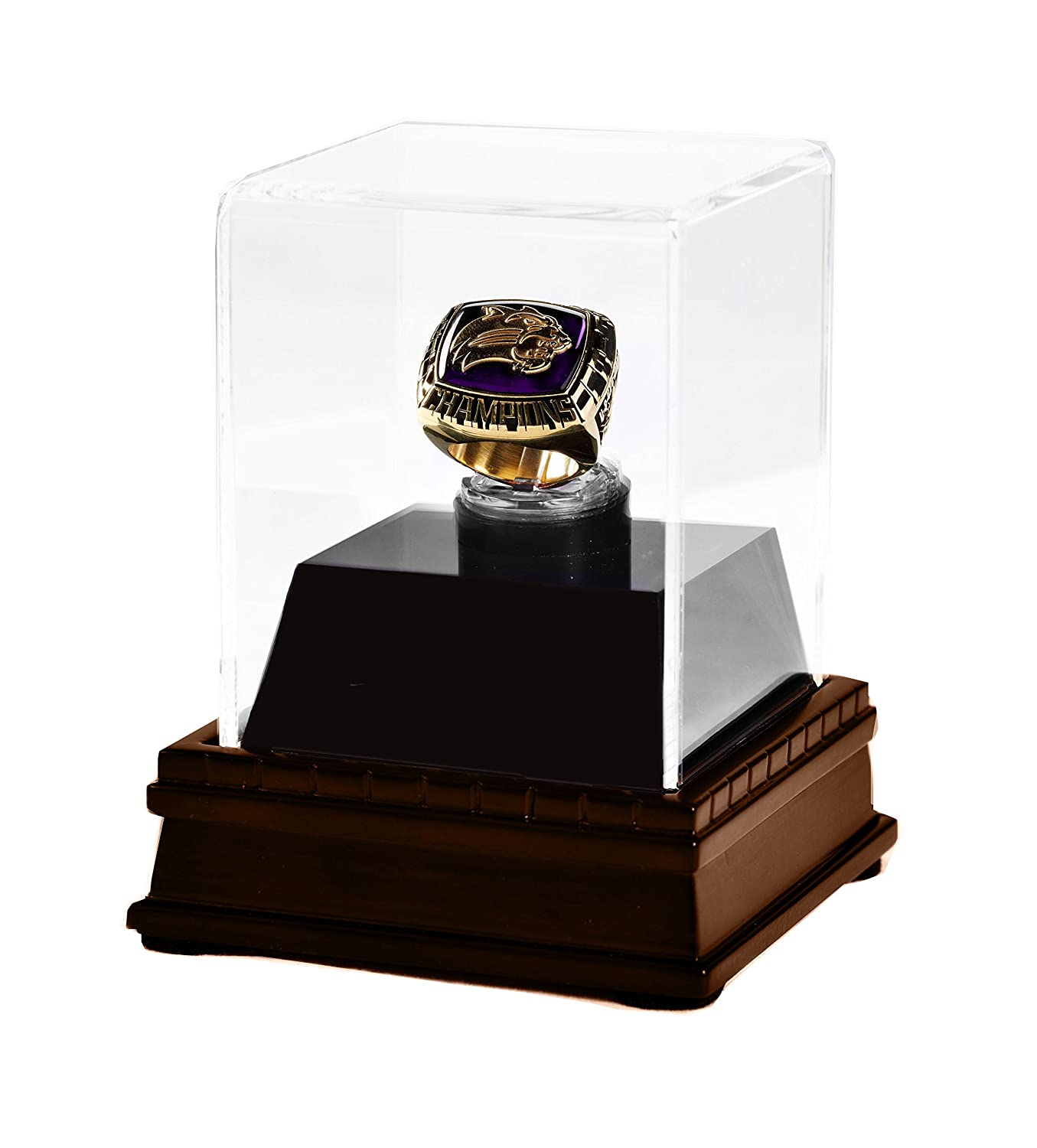 Championship Ring Display Case Acrylic Wood Box W Option For Personalized Engraving