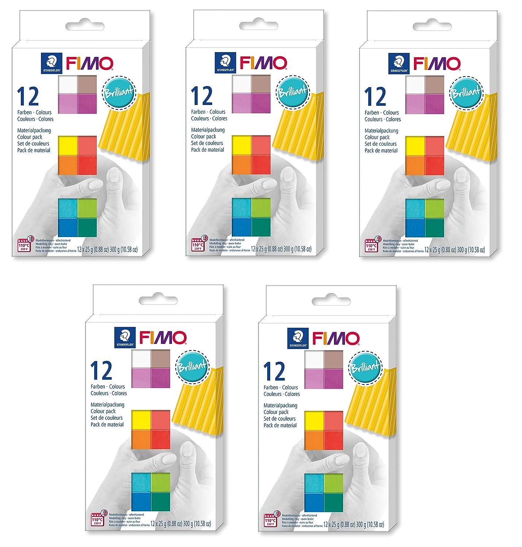Fimo Modeliermasse 12x 25g, ofenhärtend (12 Halbblöcke, Brillant, 5) B07NRVSYKL | Tadellos