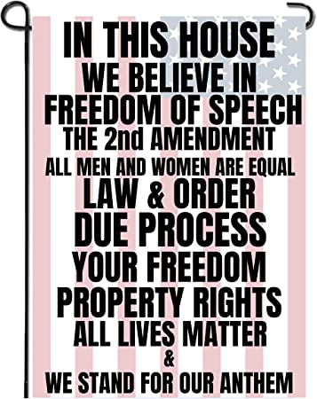 Libertee Shirts in This House we Believe in The 2nd Amendment Garden Flag, 12