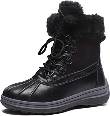 Boots Duck Fur Lined Winter Shoes