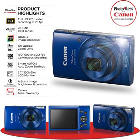 Canon ELPH 190 Blue product image 5