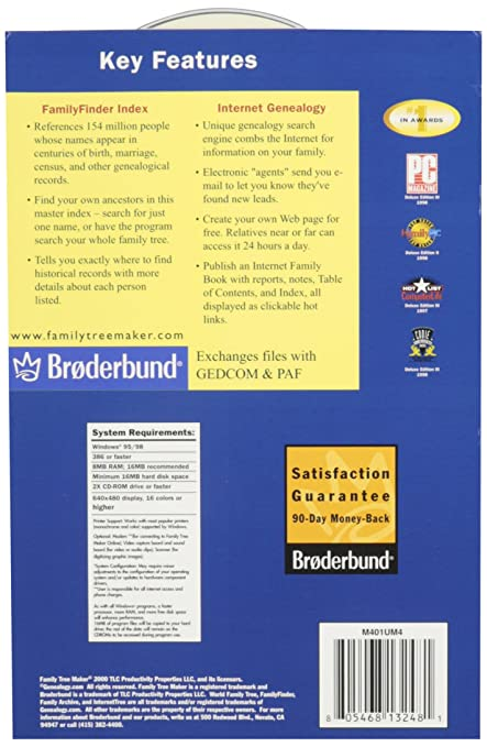 broderbund family tree maker software