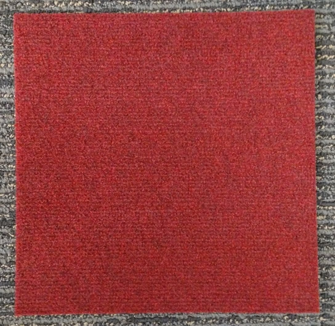 Peel and Stick Carpet Tiles Red 36 Square feet Flooring