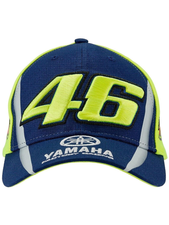 Valentino Rossi Gorra Snapback para Ni/ños Yamaha Vr46 Racing Azul-Multi Default, Amarillo