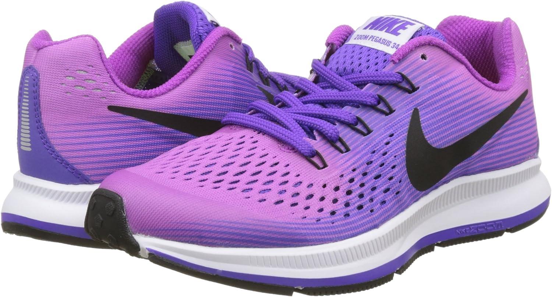Nike Zoom Pegasus 34 GS, Zapatillas de Running para Niños, Morado ...
