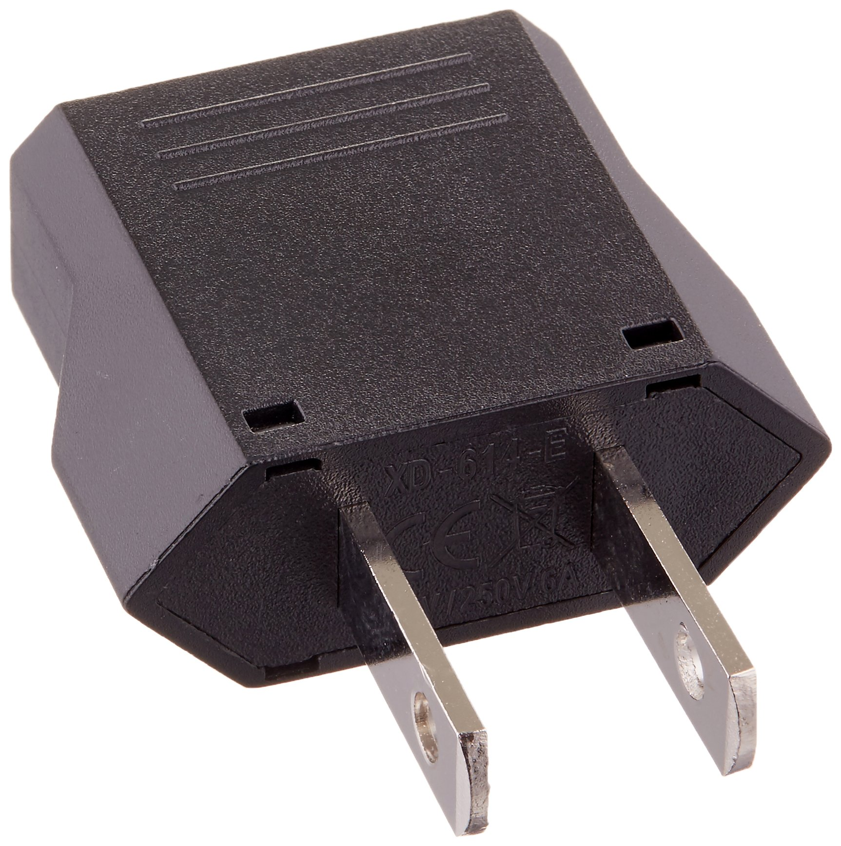 Ckitze 10-Flat European to American Outlet Plug Adapter - 10 Pack