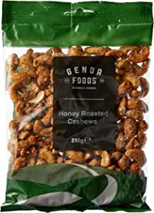 Genoa Foods Cashews Honey Roasted, 250 g, Honey