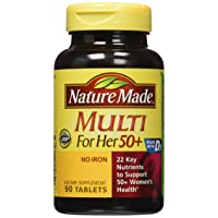 Nature Made Multi For Her 50+ Vitamin & Mineral Tabs, 90 ct (Pack of 2) (Packaging...