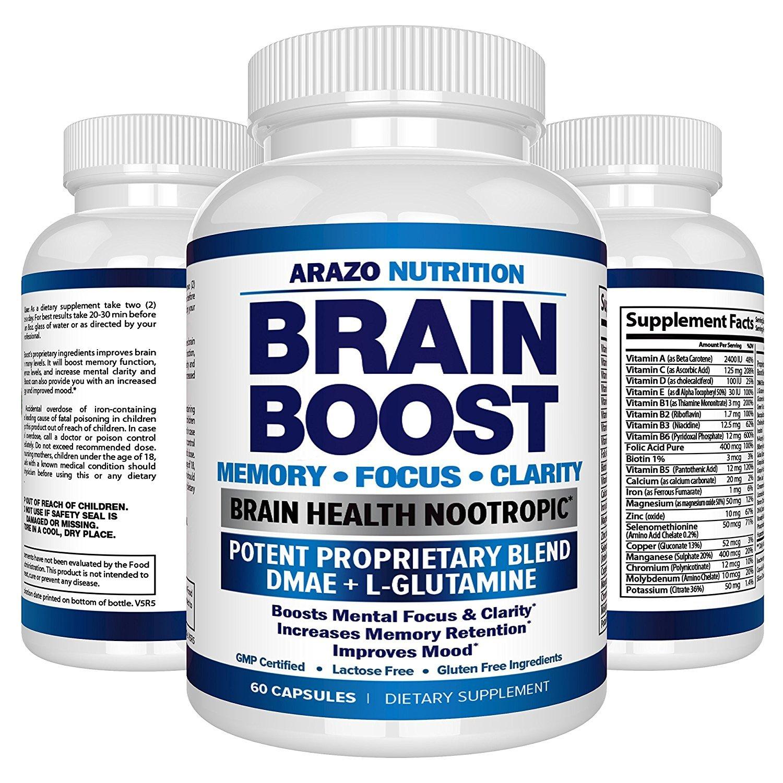 Amazon.com: Pastillas Para El Cerebro - Vitaminas Para Mejorar El Funcionamiento De La Mente - 60 Cápsulas: Health & Personal Care