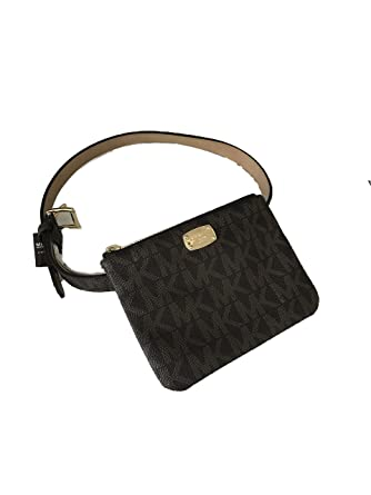 3f7133621fc4 Amazon.com | Michael Kors MK Signature Belt Wallet Fanny Pack Travel ...