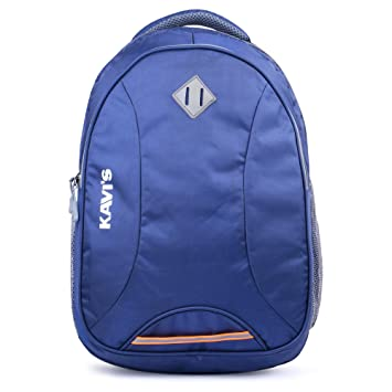 Kavi's Unisex Nylon Polyester 17 Inch Laptop Backpack with Rain Cover  Navy Blue  Laptop Backpacks