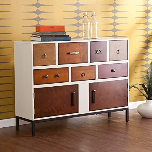 Devlin Console Credenza – Assorted Wood Finish – Midcentury Modern Style
