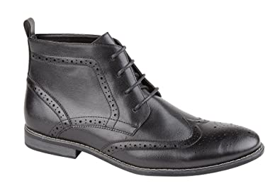 Classic Mens Bertie Lace up Brogue Ankle Boots NEW!!!: Amazon.co.uk: Shoes  & Bags