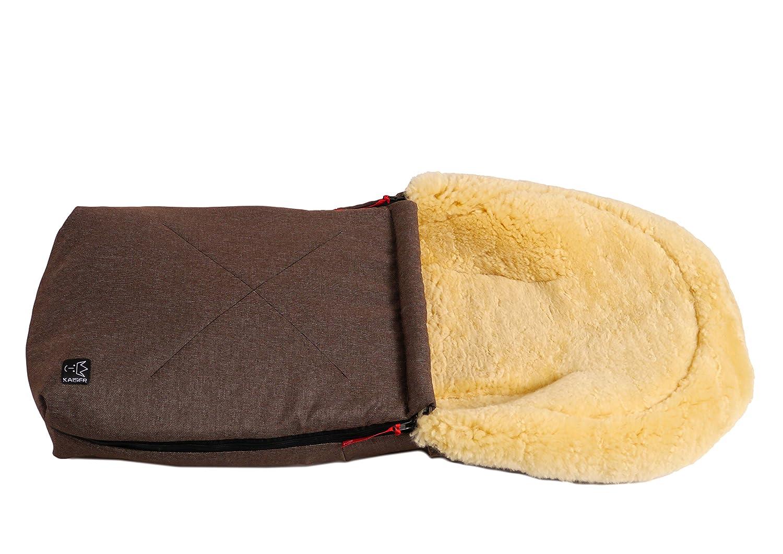 Kaiser 6534125 - Kuschelsäckchen, Lammfell Medizin, Farbe: schwarz brown melange